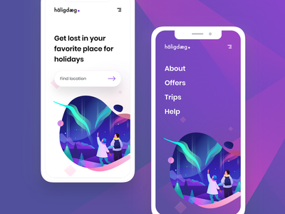 Holiday Mobile branding dribbble interface vector logo design app typography illustration phone experience ios new ux ui
