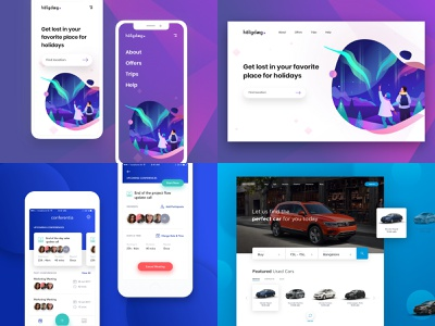#Top4Shots from 2018 user card app dribbble design illustration interface experience ios new ux ui