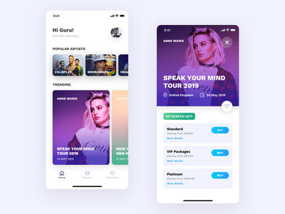 Concept Events iOS App mobile phone invite vector typography invitation blue interface design app dribbble card experience new ios ui ux