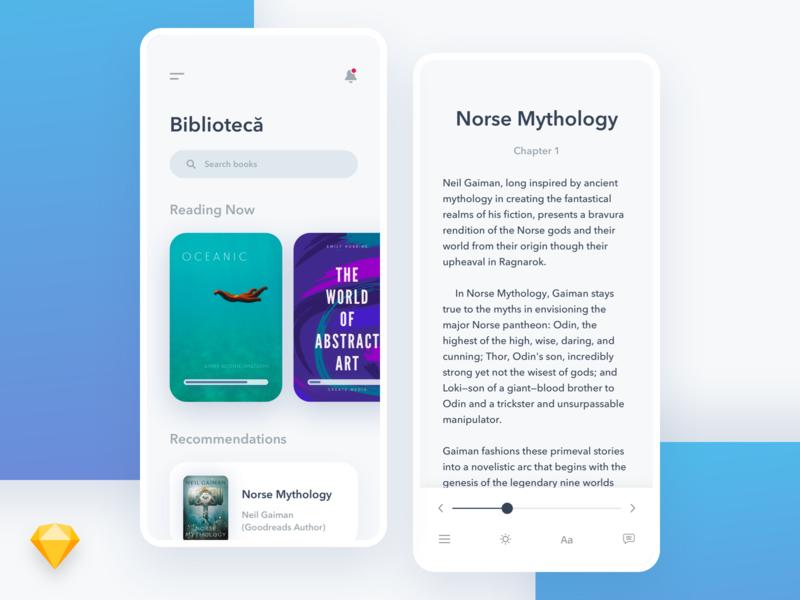 iOS Books App Concept • Sketch Freebie freebies freebie search book books free typography invite mobile invitation blue interface design app phone dribbble experience ios ui ux