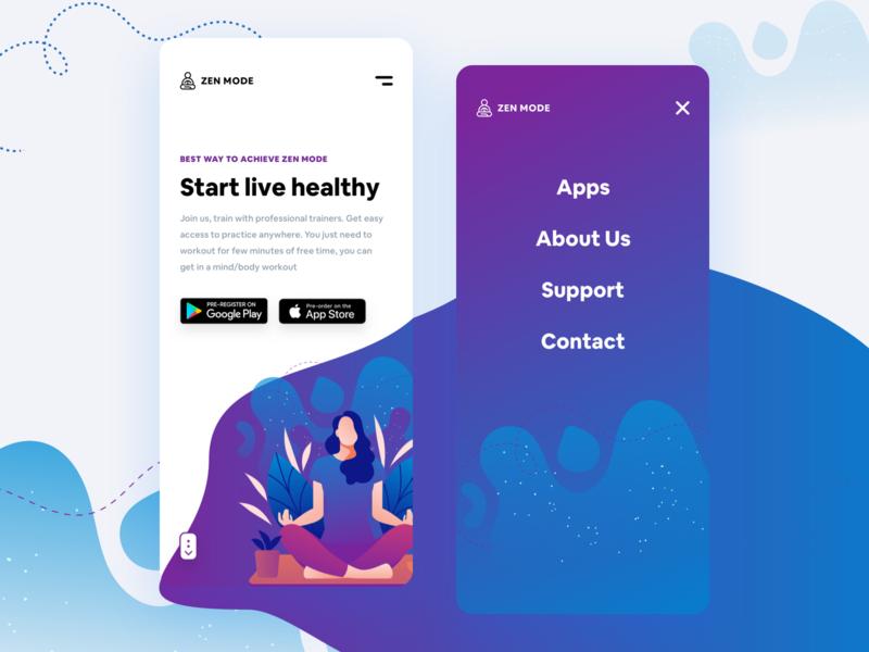 Yoga Studio Mobile Concept blue interface design card app phone dribbble experience new ios ui ux