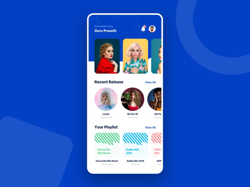 Music - Mobile App Concept design card app phone dribbble experience new ios ui ux