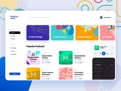 Web - Podcast Portal Concept design card app phone dribbble experience new ios ui ux