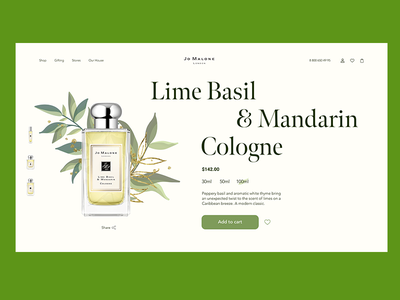 Perfume store homepage web perfume user interface freelance web design inspiration composition typography beauty website beauty product design landing page product ecommerce homepage webdesign uidesign uxdesign