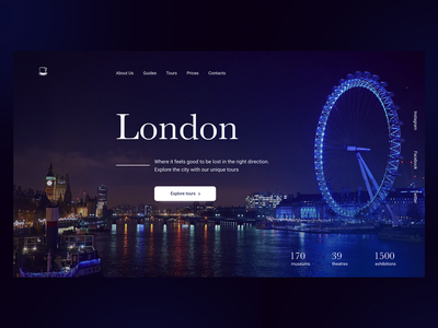 London Tour Company Website great britain places traveling concept homepage social media design tourism numbers header visual web layout website london tours typogaphy webdesign ux ui composition