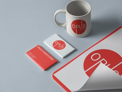 Opus Consulting Student Project business card mockup business logo business card design branding minimal icon typography logo design