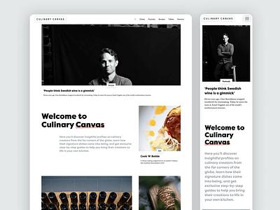 Culinary Canvas | Web design visual identity web branding logo graphic design design