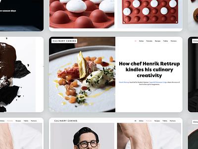Culinary Canvas | Web design visual identity web branding graphic design design