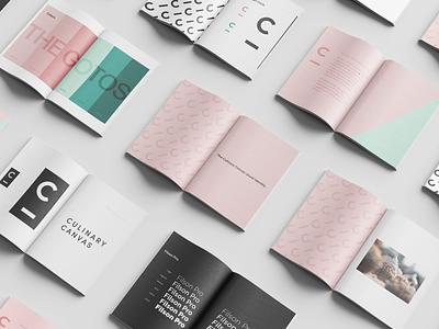 Culinary Canvas |Visual Identity web design visual identity mockup logo branding graphic design design