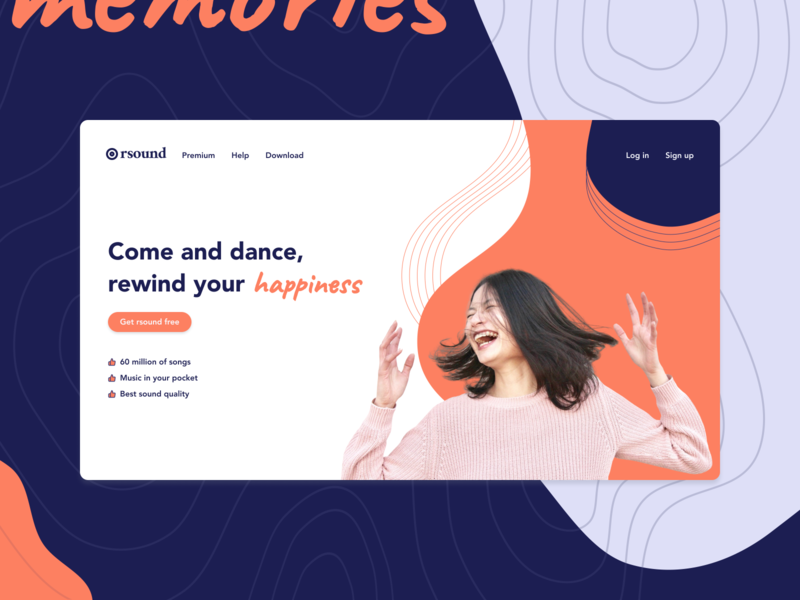 Music Streaming Landing Page - Exploration figma product design designs typography music landing page branding interaction ux design app ui component concept
