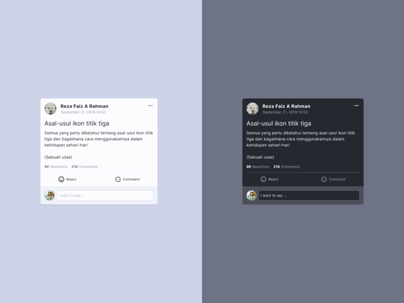 Social Media Card typography social app socialmedia react facebook comment instagram twitter card social media social design homepage concept component