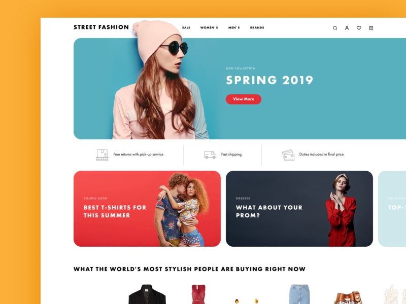 my first shot web design e-commerce shop fashion shop minimal website web ux ui design