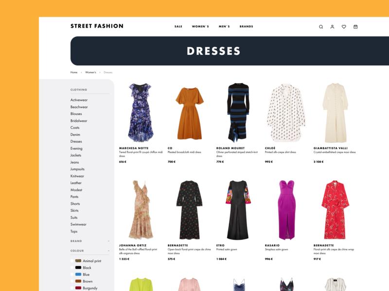 fashion e-shop catalog catalog website web design web ux ui minimal fashion shop e-commerce shop design