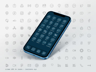 Linea – iOS 14 icons icondesign uidesign ui ios14 apps iosicons icons illustration