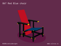 067 Red Blue Chair