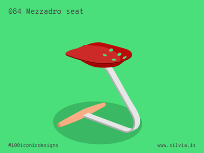 084 Mezzadro Seat italiansdoitbetter castiglioni mezzadro zanotta seat 100iconicdesigns flat illustration industrialdesign product productdesign