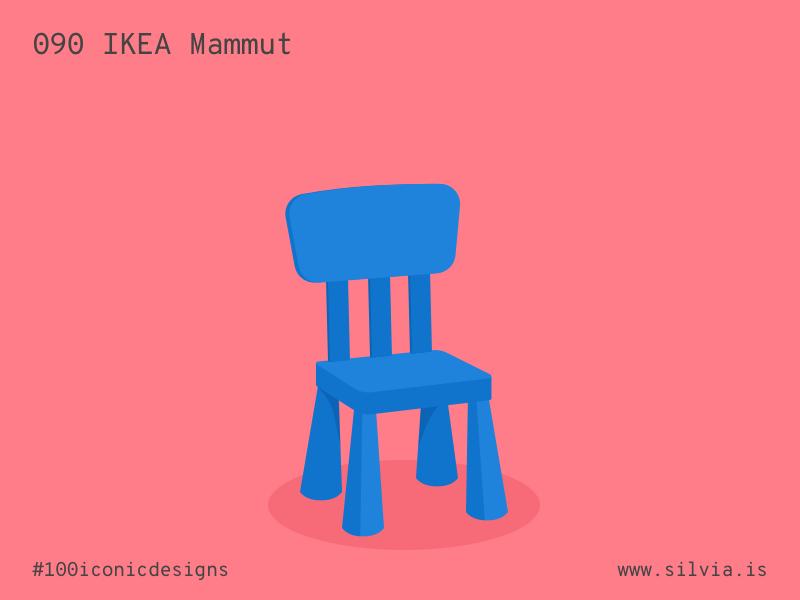 090 Ikea Mammut kids chair mammut ikea furniture 100iconicdesigns flat illustration industrialdesign product productdesign