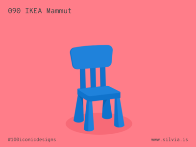 090 Ikea Mammut kids chair mammut ikea furniture 100iconicdesigns flat illustration industrialdesign product productdesign