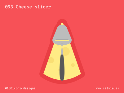 093 Cheese Slicer bjørklund food slicer cheese 100iconicdesigns flat illustration industrialdesign product productdesign