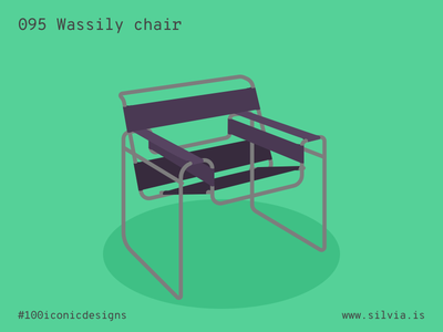 095 Wassily Chair bauhaus breuer chair wassily 100iconicdesigns flat illustration industrialdesign product productdesign