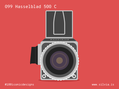 099 Hasselblad 500 C camera hasselblad 100iconicdesigns flat illustration industrialdesign product productdesign
