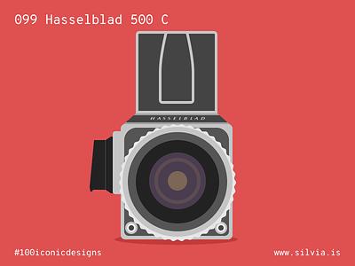 099 Hasselblad 500 C camera hasselblad 100iconicdesigns flat illustration industrialdesign product productdesign