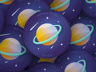 Drink coaster vector namaka space illustration