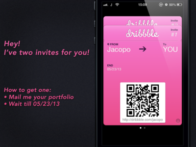 Dribbble Invite x2 [CLOSED] dribbble invite