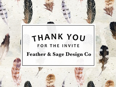 Thanks Feather   Sage Design Co