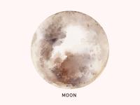 Hello Moon watercolor tote moon bag