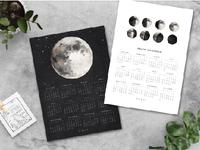 Freebie Printable-2017 MOON CALENDAR calendar moon watercolor freebie free