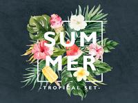 Hello!summer! ice cream leaf summer hawaii tropical