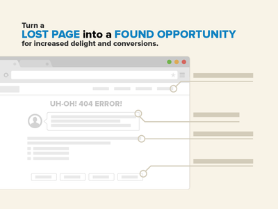 404 Page Blog Graphic web design landing page 404 page