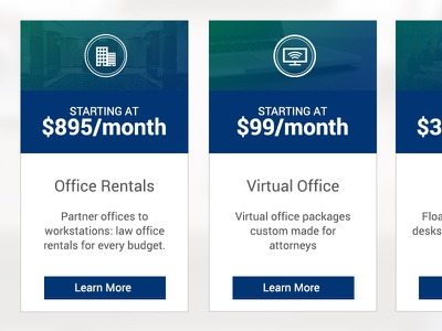 Pricing Table for Law Firm Suites landing page services ui pricing boxes pricing table pricing