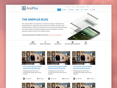 AndPlus Blog Redesign blocked inbound redesign blog