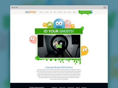 Ghost Hunting Landing Page web design landing page ghost hunting ghosts