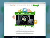 Ghost Hunting Landing Page