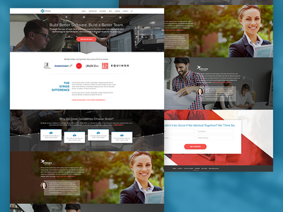 Stride Agile Software Development Homepage redesign ux software homepage agile web design
