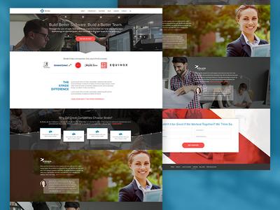 Stride Agile Software Development Homepage redesign ux software homepage agile web design