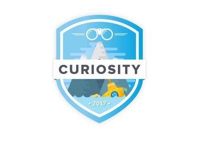 The Curiosity Badge prompt002 curiosity illustration icon badge