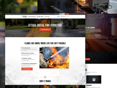 Bullex Product Page ui product dark web design product page