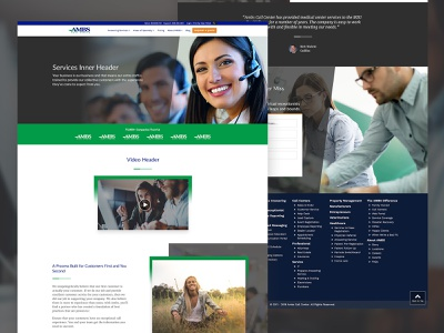 AMBS Flexible Page Design tech company ui template design web design