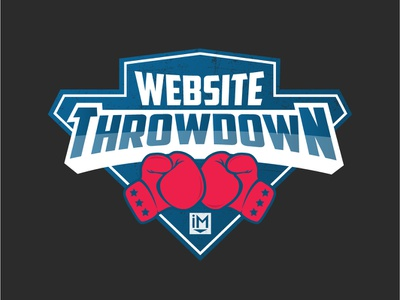 Website Throwdown Logo logodesign boxing glove grunde boxing logo illustration sticker