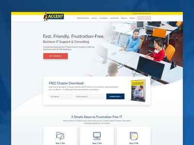 Accent Computer Solutions product networking technology homepage web design