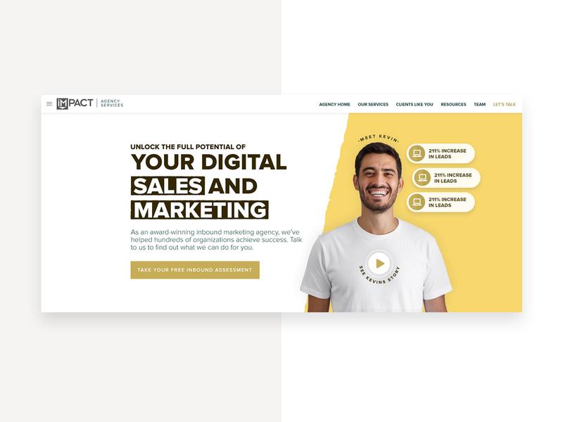 Marketing Agency Hero Concept inbound marketing redesign hero hero section hero banner marketing homepage web design