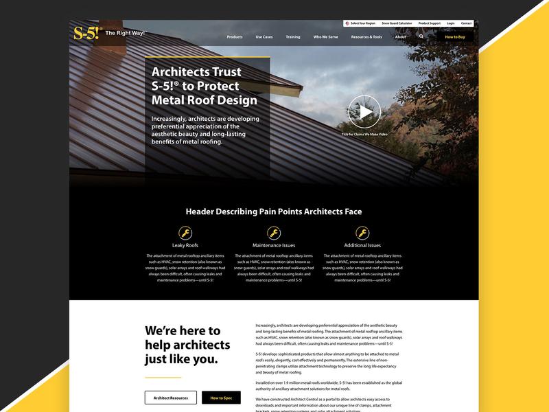 Persona Page sketch design ui web design architecture roofing persona
