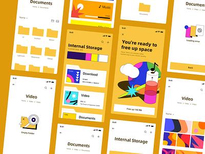 File Explorer (UI map) 404 documentation manage data yellow graphic design file explorer vector illustration icon design app