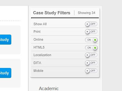 Case study filter