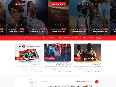 ShadowGames main page site website ui design webdesign psd