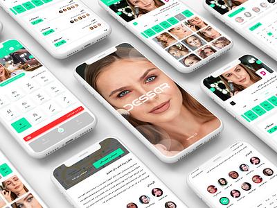 Dessar | Hairdresser Reservation App User Interface Design design uiux application ui application
